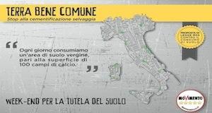 Parlamento/MoVimento: M5S banchetti #stopcemento 8/9/10 Novembre
