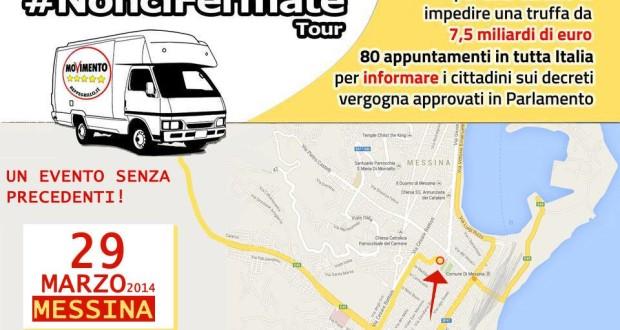 #NonciFermate Tour a Messina