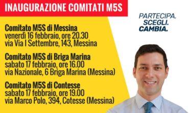 Prontissimi a inaugurare tre comitati elettorali M5S a Messina