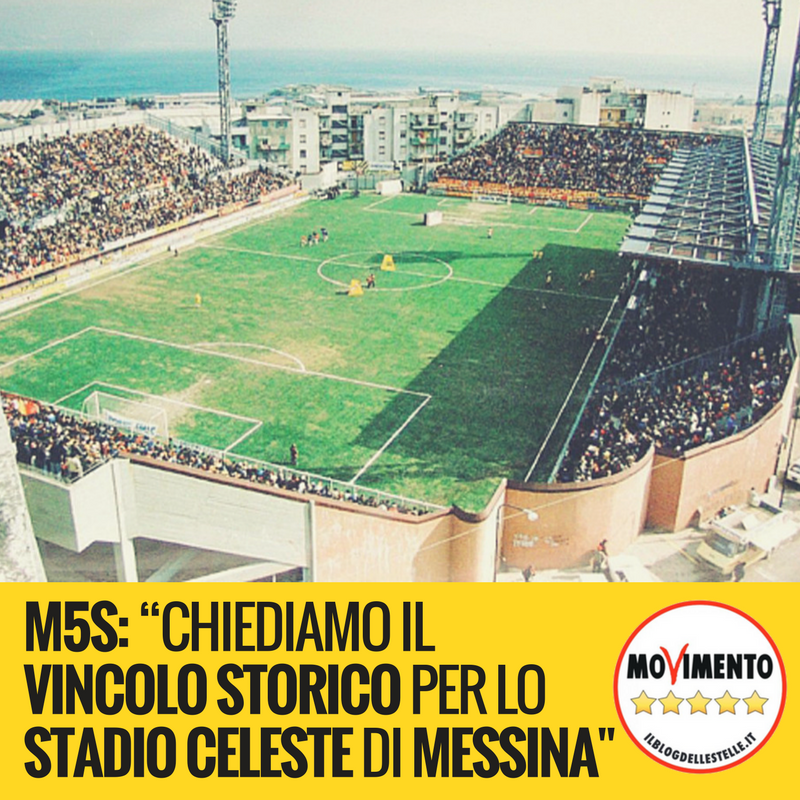 stadio eleste di messina m5s