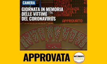 Giornata in memoria delle vittime del coronavirus, approvata proposta alla Camera