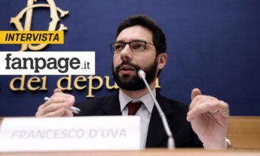 """Referendum, D'Uva (M5s): """"Taglio dei parlamentari è battaglia del popolo, poi abbassiamo stipendi"""""""