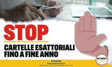 Stop cartelle esattoriali fino a fine anno