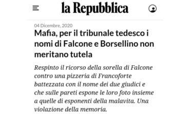 Il giudice Falcone è simbolo dell'antimafia nel mondo, è compito delle istituzioni valorizzarlo