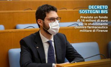 Sostegni Bis: 16 milioni di euro per lo stabilimento chimico farmaceutico militare di Firenze