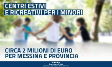 Buone notizie per Messina e provincia: 2 milioni di euro per i centri estivi e ricreativi per i minori!