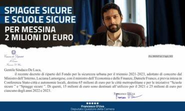 """""""Spiagge Sicure"""" e """"Scuole Sicure"""": 2 milioni di euro per Messina"""