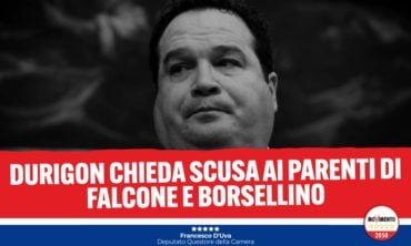 Durigon chieda scusa ai parenti di Falcone e Borsellino