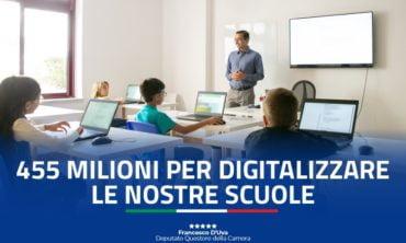 Scuole: stanziati 455 milioni per digitalizzare gli istituti italiani